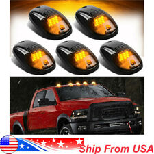5X  Smoked Amber LED Cab Roof Top Marker Running Lights For Truck SUV Pickup 4x4