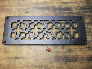 CAST IRON AIR VENT AIR BRICK GRILLE COVER - repair - powder coated