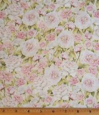 Rose Divine Fragrant Fabric By Yard Floral 100% Cotton Mia Quilt Sew