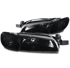 FOR 97-03 PONTIAC GRAND PRIX REPLACEMENT HEADLIGHTS W/CORNER SIGNAL BLACK/SMOKE