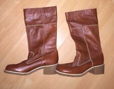 K Frostmaid By Appointment To H.M The Queen Dark Tan Leather Boots, Size 7 - Fab