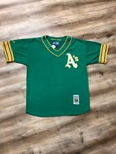 OAKLAND ATHLETICS A'S COOPERSTOWN COLLECTION VINTAGE 90s STARTER MLB JERSEY