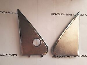 MERCEDES W123 OUTSIDE MIRROR PLATE RIGHT AND LEFT PAIR