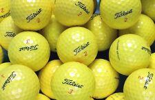 20 Titleist DT Solo Yellow Golf Balls Pearl/A Grade
