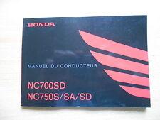 Manuel du proprietaire d`entretien conducteur Honda NC 700 SD  750 S SA SD (DCT)