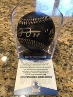 Frank Thomas Signed Official MLB Black Leather Baseball Beckett COA White Sox