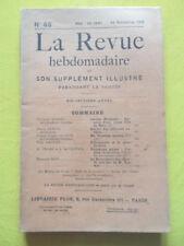 La Revue Hebdomadaire 1908 n° 46 Paul Gaulot Robespierre Edouard Rod M. Doumic