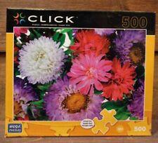 "500 Piece Puzzle Mallow Flowers Mega Puzzles  26.75 x 18.94"" Fully Interlocking"