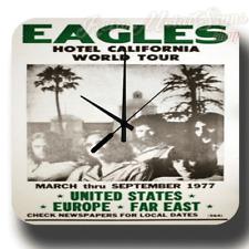 The Eagles Hotel California World Tour RETRO  METAL TIN SIGN WALL CLOCK