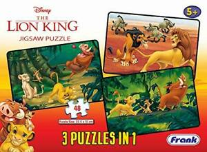 Disney The Lion King 3 in 1 Jigsaw Puzzles (48Pcs) For 5 Year Old Kids & Above