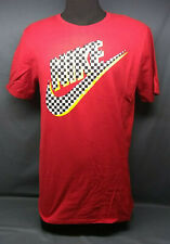 Nike Men's Futura Check Graphic T-Shirt Short Sleeve Crew Neck Red Size M NEW!