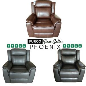 PHOENIX LEATHER RECLINER ARMCHAIR SOFA HOME LOUNGE RECLINING CHAIR