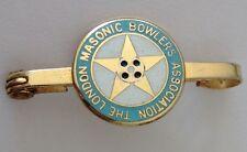 The London Masonic Bowlers Association Bowling Club Pin Badge Freemason (M13)