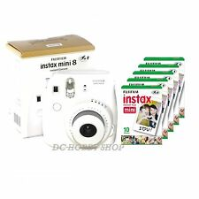 FUJIFILM Instax Mini 8 Instant Camera - White + 50 film