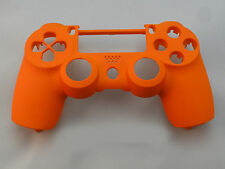 Soft Touch Orange Front Face Shell For PS4 Controller - New - For current gen