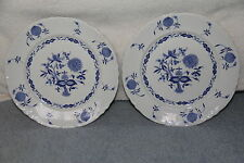 2 Warwick Blue Onion Dinner Plates c1940's Gently Used Condition