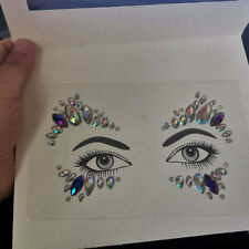 Halloween face gems adhesive glitter Jewel tattoo sticker festival party make up