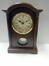 BULOVA - DALTON -B7466 SMALL TRADITIONAL WOODEN  MANTEL CLOCK WITH PENDULUM