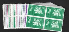 BRITISH OMNIBUS FREEDOM FROM HUNGER COMPLETE SET (37) BLOCKS OF 4 MNH
