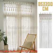 Macrame Curtain 85x200cm Wall Hanging Tapestry Room Door Window Wedding Backdrop