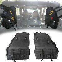 2x Roll Bar Storage Bag Cargo Organizers for Jeep Wrangler JK 4-door 2007-2018