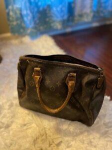Louis Vuitton Handbag Speedy 35 Monogram Authentic Vintage SP0973 Lockset