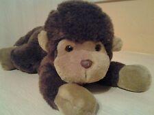 """Vintage Rare Plush Brown Monkey Beanie 10"""" Stuffed Animal Toy"""