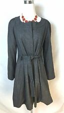 Marc Jacobs Gray Wool Belted Swing Coat Size 4