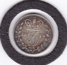 1879   Queen  Victoria  Threepence  (3d)  Silver (92.5%) Coin