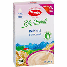 TOPFER Whole-Grain Rice Cereal Baby 4+ Month - Sugar Free - Milk Free 175g 6.2oz