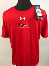 NWT Mens Size Small Under Armour Heat Gear Shirt Dri Fit Wisconsin Badgers Loose