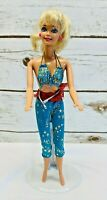 "MATTEL BARBIE Doll Blonde Hair Blue Eyes Two Piece Outfit 12"" Tall Free Ship"