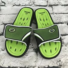 Spalding Bathing Beach Shower Pool Slide Sandals Shoes Green Mens Sz Small