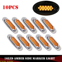 10x Amber Side Marker Clearance Light 16 LED Truck Trailer for Freightliner 12V