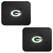 NFL Green Bay Packers Car Truck 2 Back Utility All Weather Rubber Floor Mats