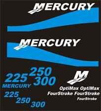 Adesivi motore marino fuoribordo Mercury bande blu 225 fino a 300 hp optimax 4t