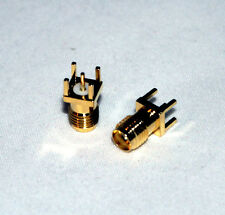 10 SMA Female Jack Panel Mount PCB Solder Connectors; US Stock; Fast Shipping