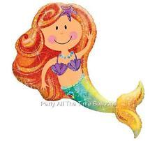 "38"" NEW Design Mermaid Balloon Birthday Party Ocean BEACH Pool SEA Balloons"