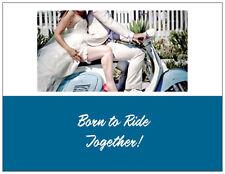 20  MOTORCYCLE Harley Born to Ride Bridal WEDDING Shower INVITATIONS & ENV Seals