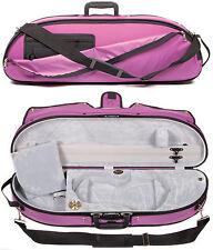 Bobelock Puffy Purple Half Moon 4/4 Violin Case with Grey Velour Interior