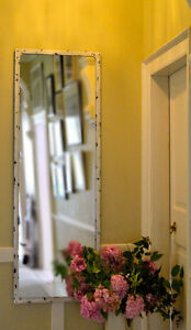 Tall Mirror, full length, Antique White colour finish