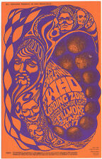NICE VINTAGE MINT '67 THE MIGHTY WHO LOADING ZONE FILLMORE CONCERT POSTCARD BG68