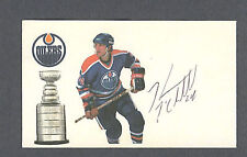 Kevin McClelland signed Edmonton Oilers index card