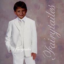 First communion Boy formal Wedding suit white Size 10