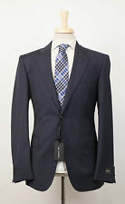 New. CERRUTI 1881 Navy Blue Striped Wool 2 Button Suit Size 56/46 R Drop 7 $795
