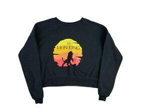 Disney Lion King Womens Juniors Long Sleeve Cropped Sweatshirt Top Medium