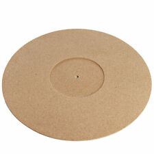 More details for cork vinyl slip mat circular turntable & record player protection & decor pukkr