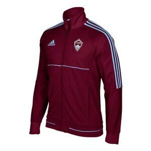 Colorado Rapids MLS Adidas Men's Sideline Burgundy Full-Zip Anthem Track Jacket