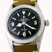 Rolex Air King Oyster Perpetual Explorer Dial Vintage Steel Wrist Watch