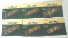 Brainerd Solid Brass Hasp - Hand Polished Brass Screws  #804XC - lot of 6 - New